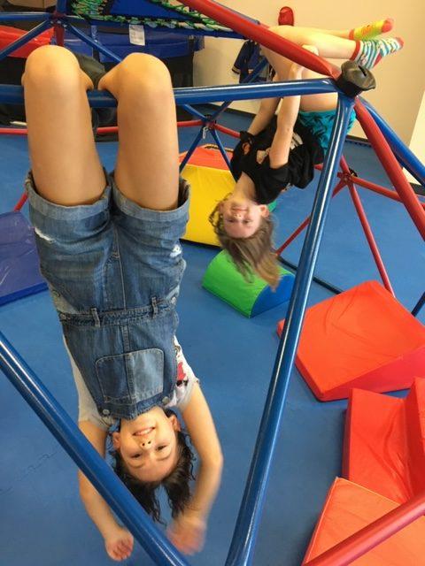 Kids hanging upside down WRTS Jacksonville
